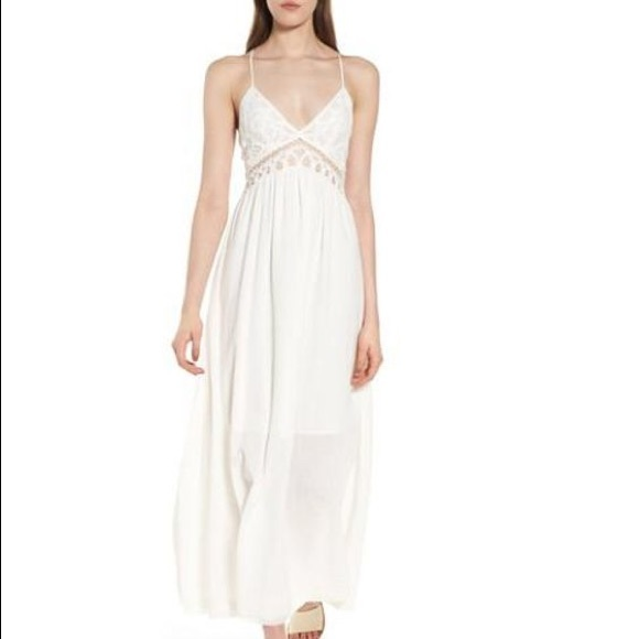 d16d3c9126ca Anthropologie Dresses   Skirts - Lace Inset Empire Waist Maxi Dress MOON  RIVER